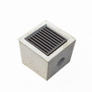 Concrete Drain Box with Grate