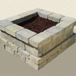 Rustic Wall Stone Fire Pit