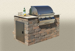 Rustic Wall Stone - Standard BBQ with side Door