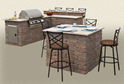 Rustic Wall Stone Table